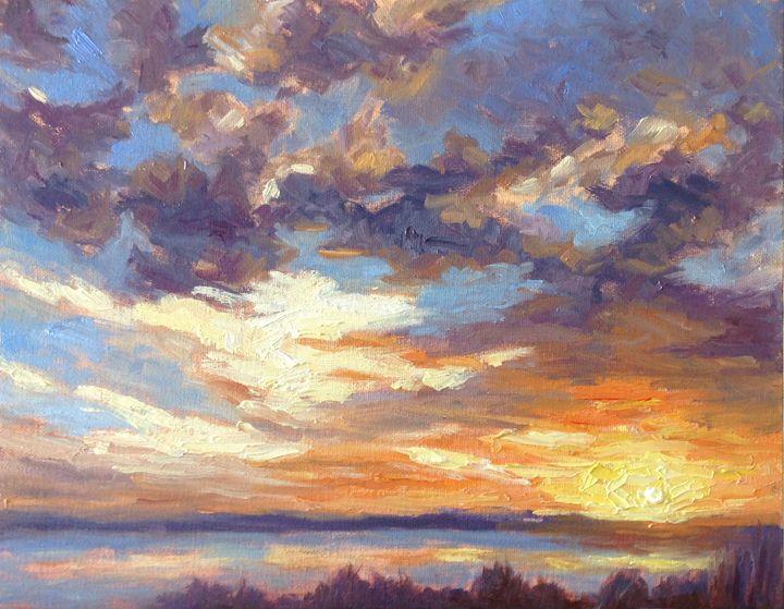 Sunset over marshes - Elena Maksina