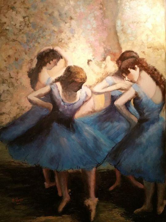 Blue Dancers ...my adptation - Piazza's Fine Art