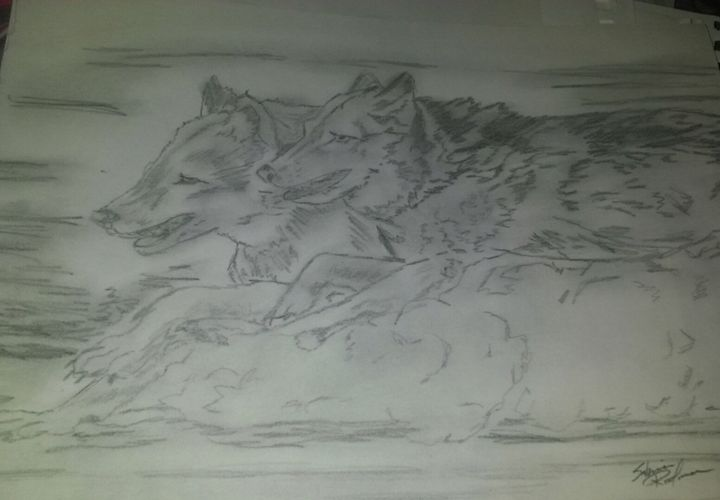 running in the pack - Sabrina's art