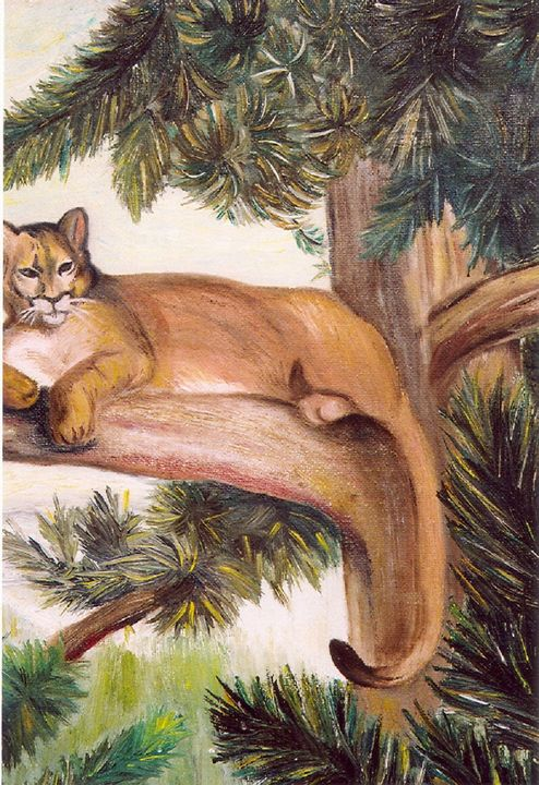 COUGAR IN THE PINES - Autumn Lady Creations