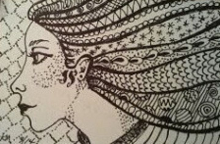 ZENTANGLE HAIR - Autumn Lady Creations