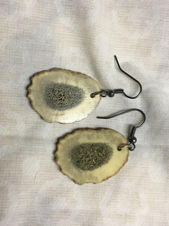 Deer antler earrings - Wakley8 creative designs