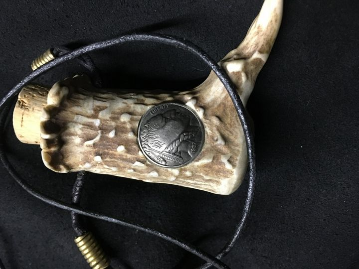 Inlaid antler necklace - Wakley8 creative designs
