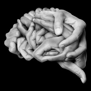 Human brain made with my hands