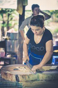 Vietnam. Woman working