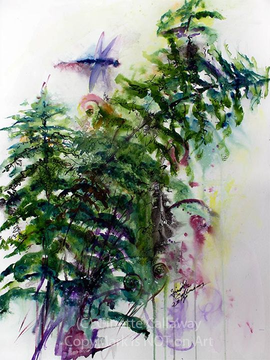 Fern and Dragonfly - Ginette Art