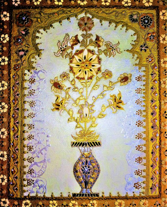 original painting oil acrylic 8x10 - indianArtOnCanvas
