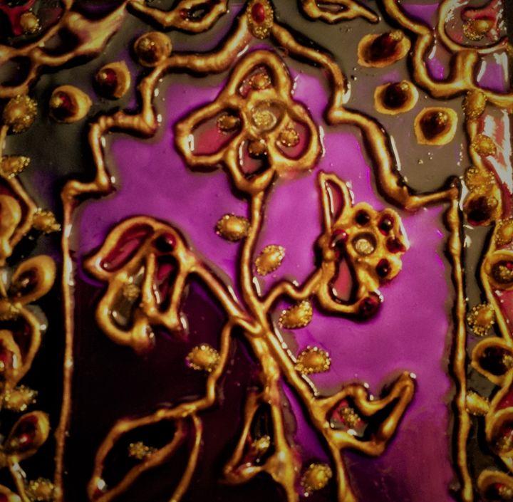 Hand painted Indian mirror pendant - indianArtOnCanvas