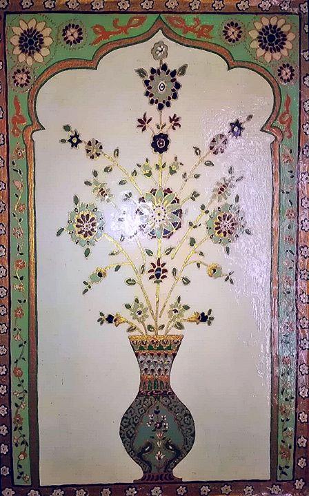 mughal motif indian art - indianArtOnCanvas