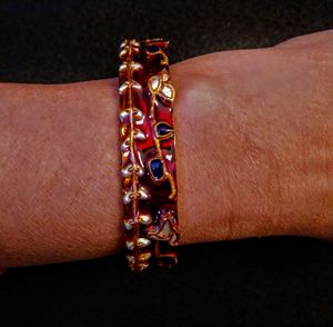 painted Indian bangle
