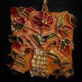 flowers in vase pendant