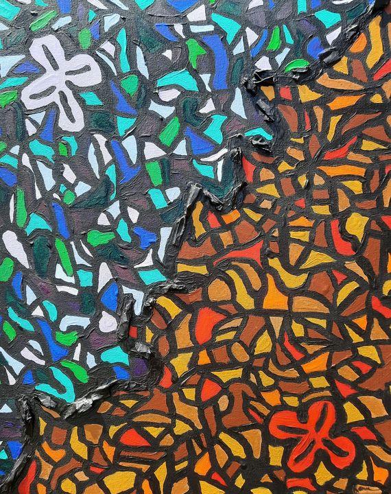 Original Puzzle 3D Painting - Renee Arbia Art