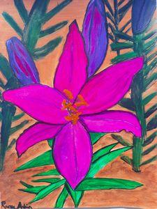 Original Purple Lily Painting