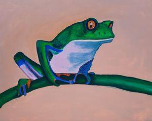 Blue Sided Leaf Frog