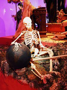 Skeleton and globe - Helen A. Lisher