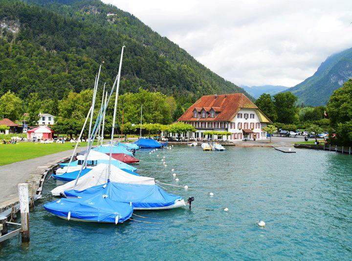 Neuhaus and Lake Thun - Helen A. Lisher