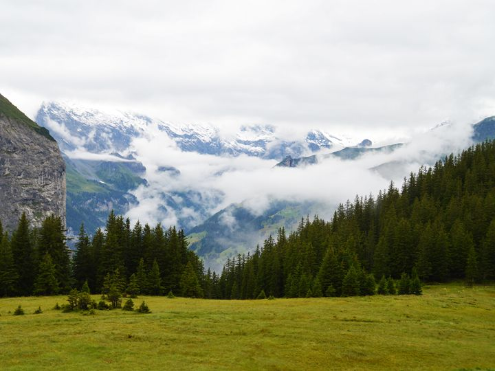 Cloudy in the Swiss alps - Helen A. Lisher