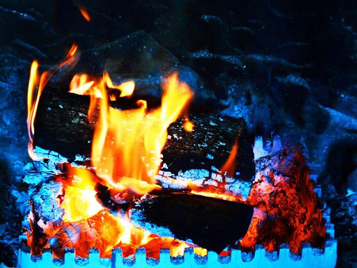 Log fire - Helen A. Lisher