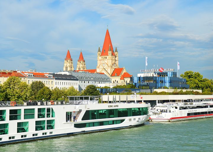 Vienna from the Danube, Austria - Helen A. Lisher