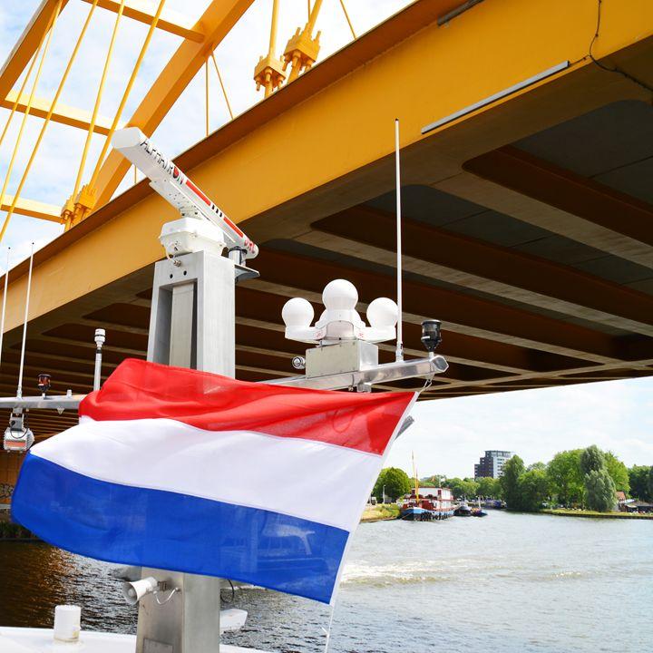Dutch flag and the river Rhine - Helen A. Lisher