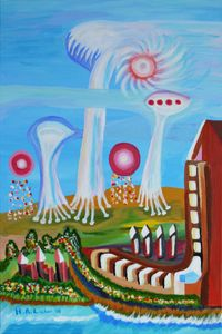 Future landscape with UFOs - Helen A. Lisher