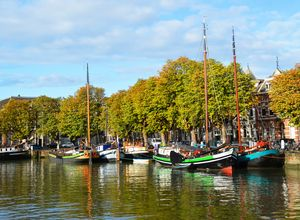 Boats in Dordrecht, Netherlands - Helen A. Lisher