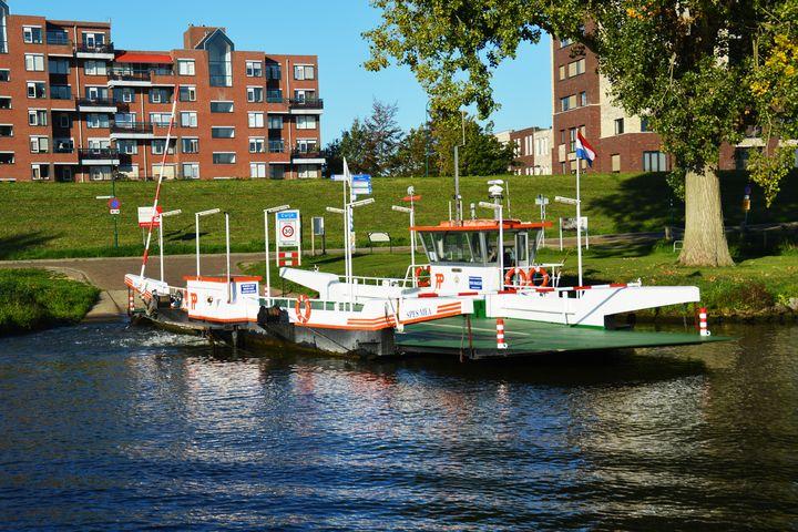 Dutch floating bridge - Helen A. Lisher