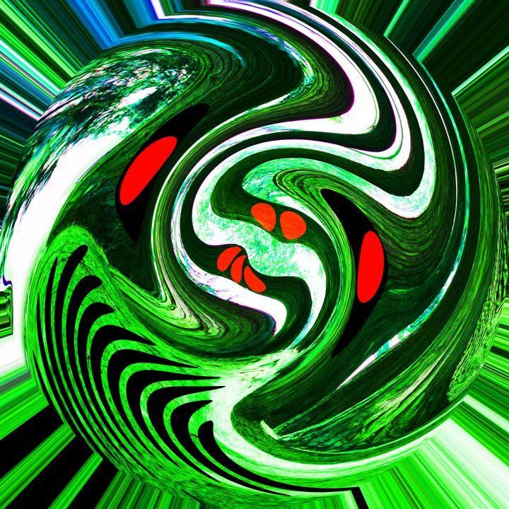 Alien green planet - Helen A. Lisher