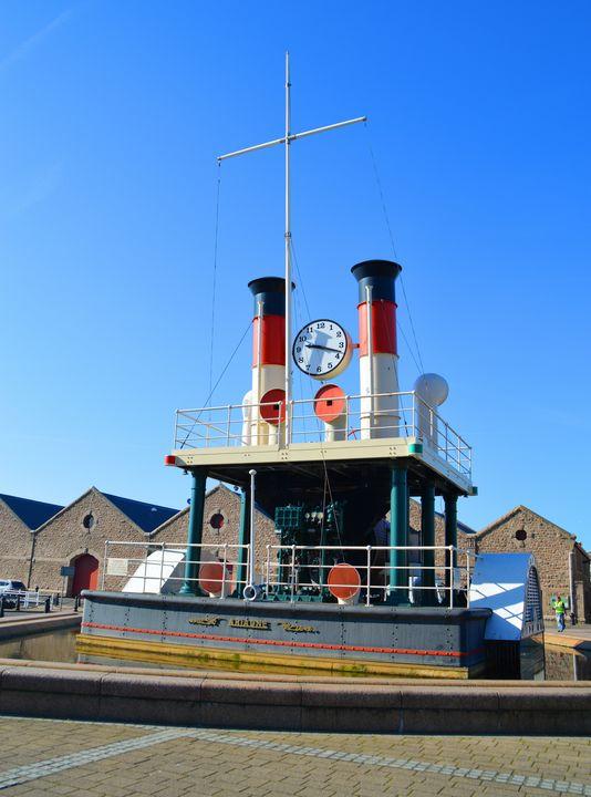 Steam clock in St Helier, Jersey - Helen A. Lisher