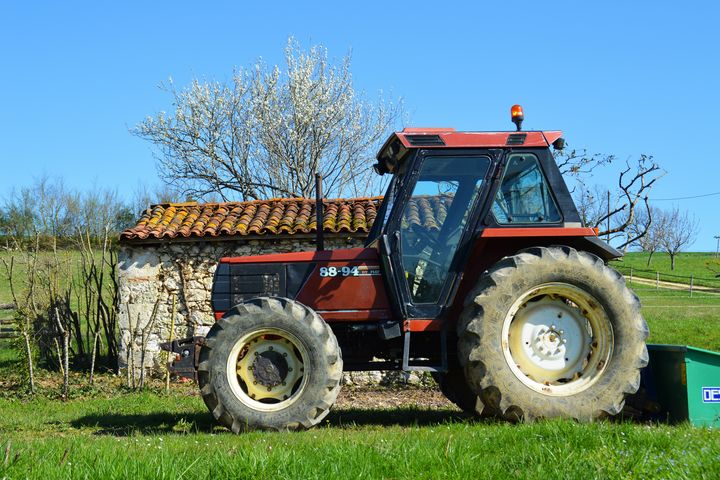 Tractor on a farm in France - Helen A. Lisher