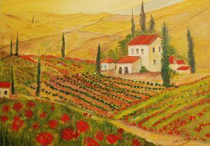 Tuscany flower fields