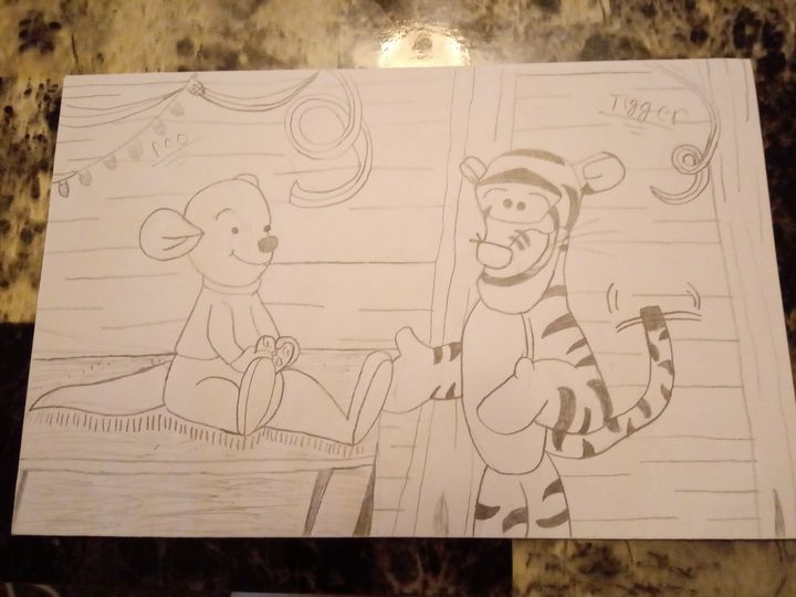 Tigger movie, bestest little brother - The at home artist
