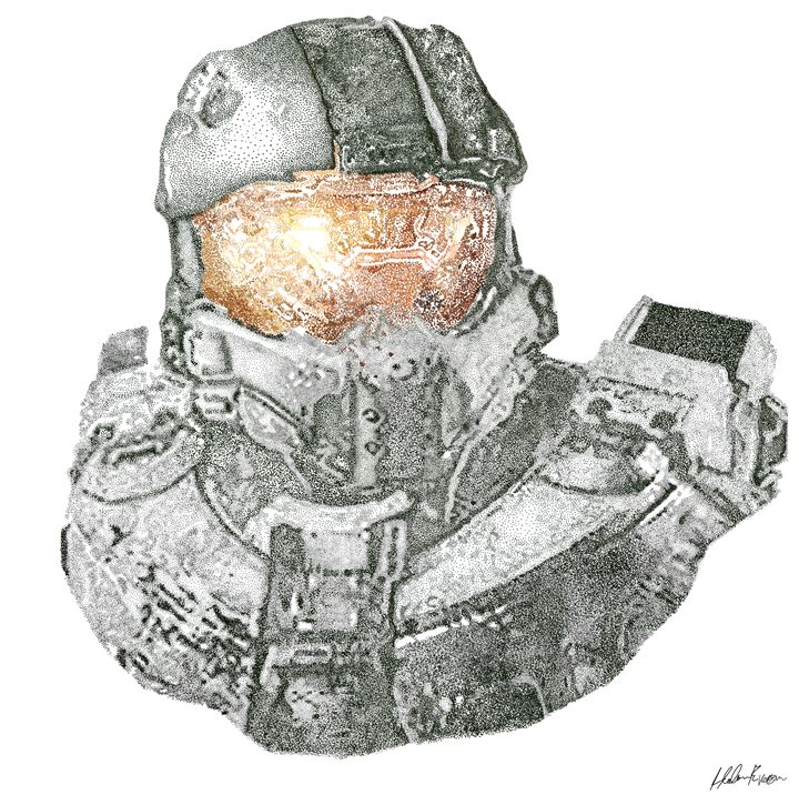 Master Chief Portrait - De Outrora