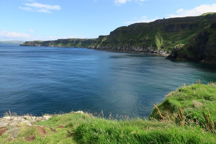 Carrick-a-Rede cliffs and sea - Creative Artistry by Janice Solomon