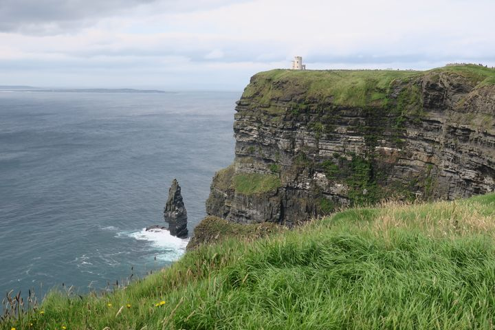 Castle and Cliffs of Moher - Creative Artistry by Janice Solomon