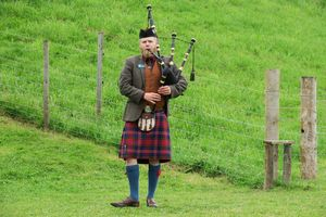 Scottish Bagpiper at Culloden