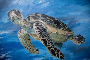 Acrylic Turtle Canvas