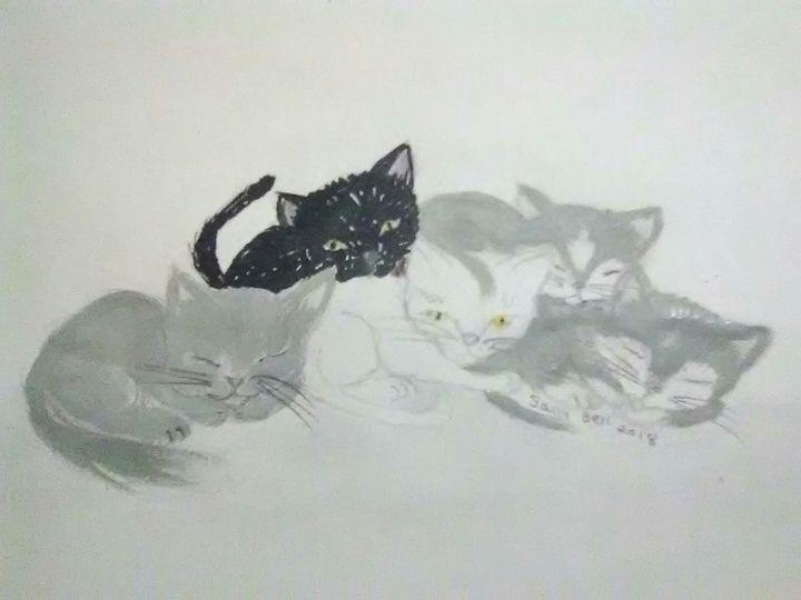 Kitten Pile - ART