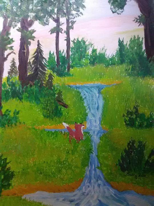 fox in the falls - ART