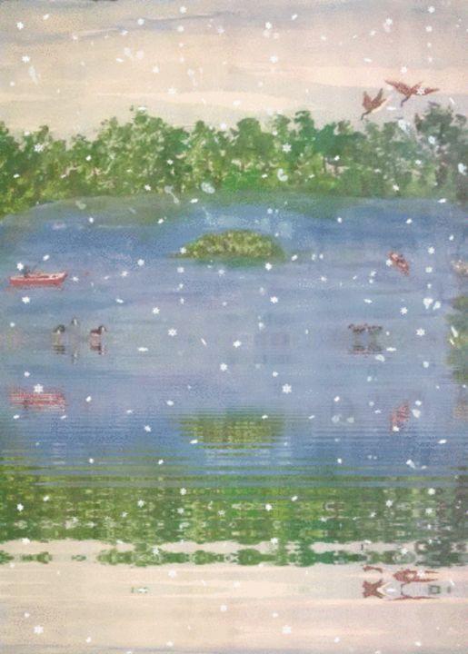day at the lake - ART