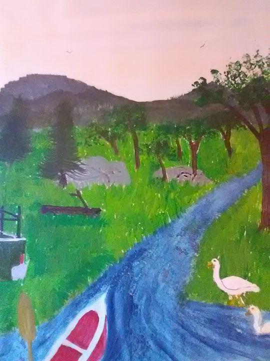 Heading down the river - ART