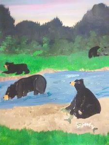 Bears in creek
