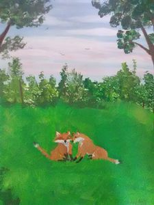couple of fox