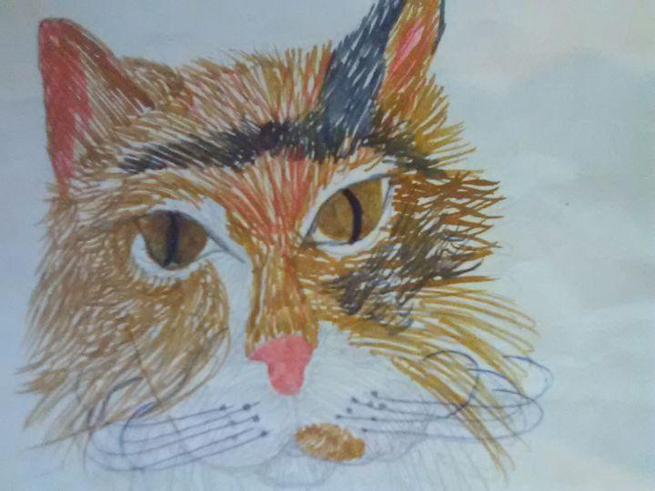 Calico cat - ART