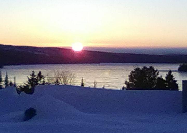 Sunset on Rangeley Lake - ART