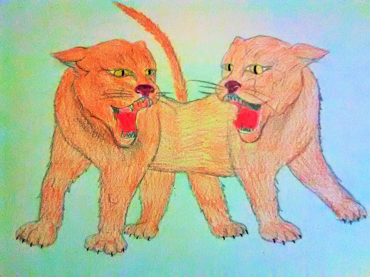 2 head cat - ART