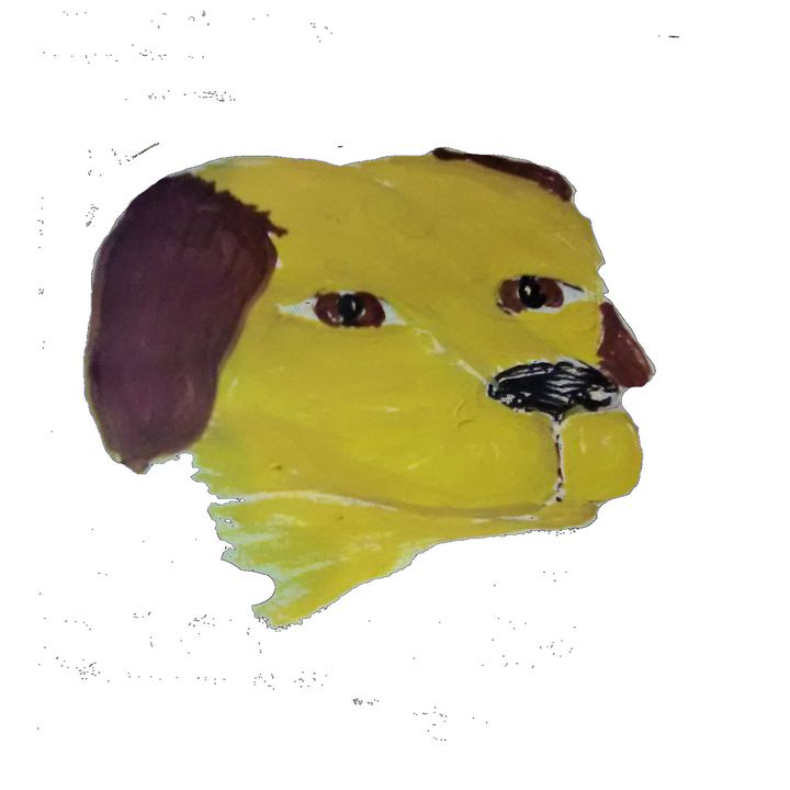 a dog head - ART