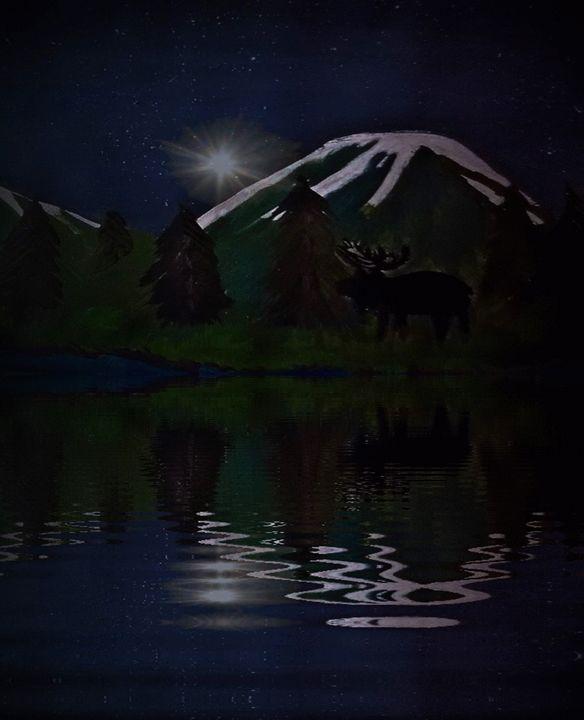 moose at night - ART