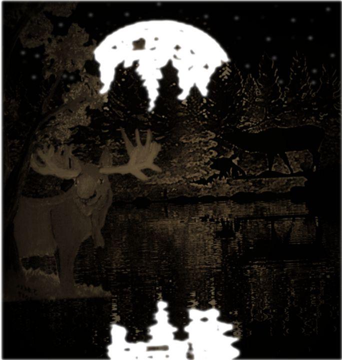 moose and elk - ART