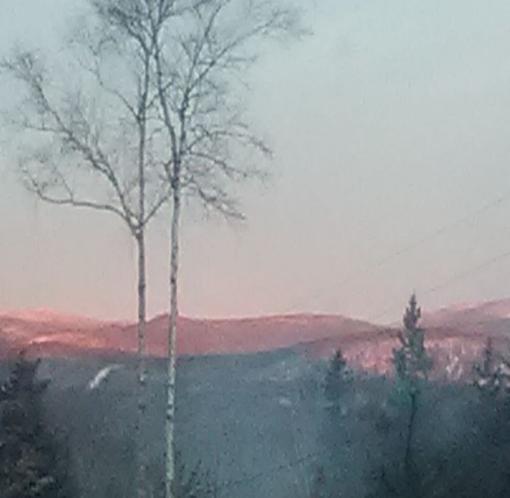 mountains in pink - ART